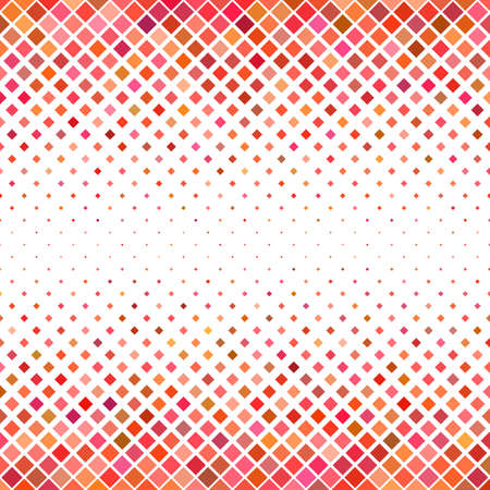 Color square pattern background - geometrical vector graphic from diagonal squares in red tones
