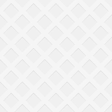 Repeating perforated texture background - spatial vector graphic pattern from negative diagonal square shaped holes Illustration