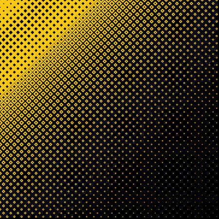 Abstract geometrical halftone square pattern background - vector design