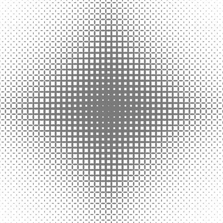 gray: Abstract symmetric halftone ellipse grid pattern background - vector graphic design Illustration