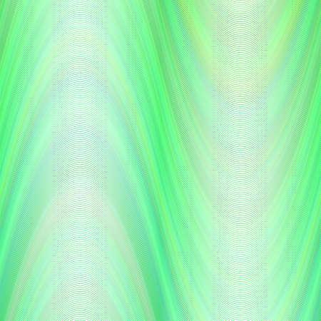 Wave background from thin green wavy lines - vector graphic
