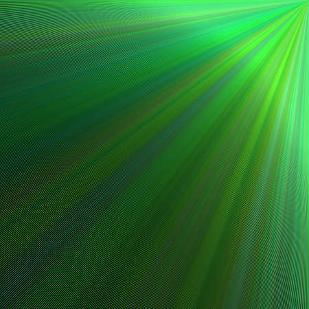 Green abstract ray burst background design - vector graphic from rays from the upper right corner