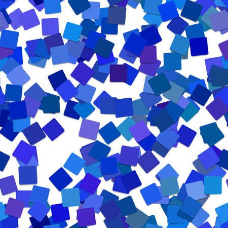 Seamless abstract square pattern background - vector graphic design from rotated blue squares