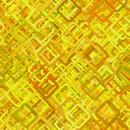 Seamless square background pattern - vector illustration from diagonal squares in yellow tones with shadow effect