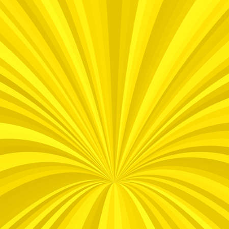 Curved ray burst design background - vector graphic from striped rays Illustration