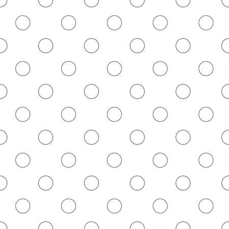 bleb: Seamless monochrome circle pattern - simple vector background graphic design Illustration