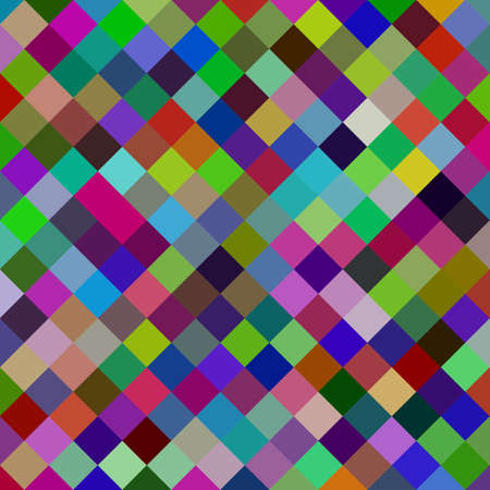 Multicolored square pattern background - geometric vector illustration from diagonal squares Stock fotó