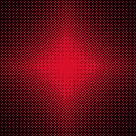 sized: Red symmetrical halftone dot pattern.