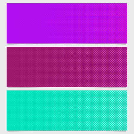 Halftone dot pattern banner design - vector illustration from circles in varying sizes illustration. Ilustração