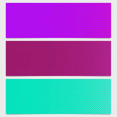 Halftone dot pattern banner design - vector illustration from circles in varying sizes illustration. Illustration