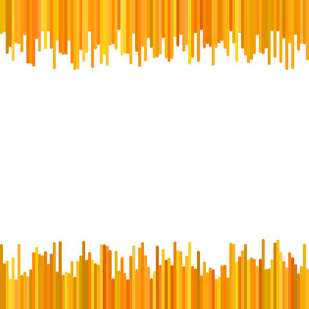 Abstract background from rounded vertical rounded stripes in orange tones - vector design Çizim