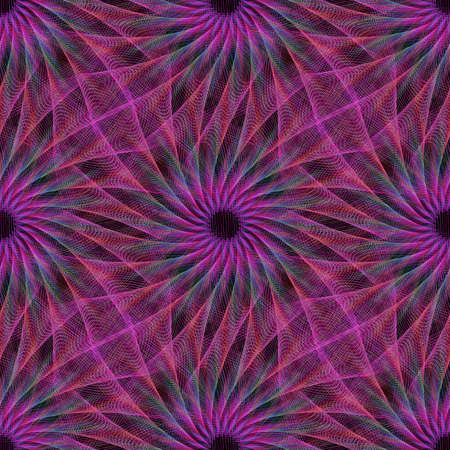 Purple repeating abstract computer generated fractal pattern