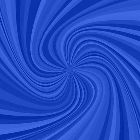 Abstract spiral ray illustration from swirling rays in blue tones.