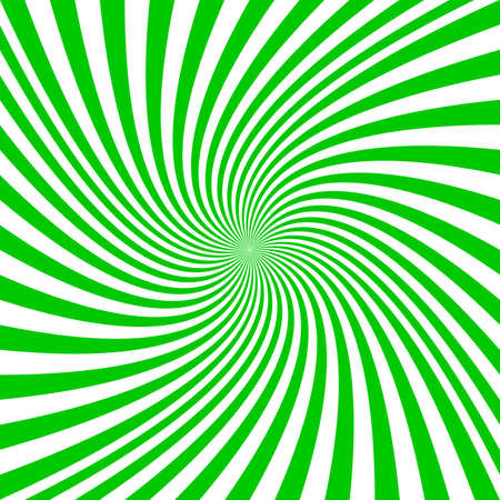 Green and white spiral design  graphics.