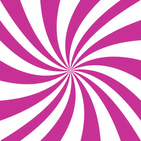 turning the page: Pink and white spiral design graphics.