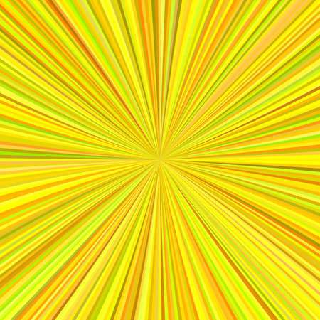 Abstract sun burst background from radial stripes in yellow tones