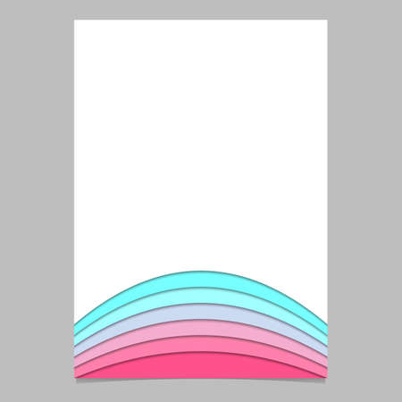 Abstract brochure template from curved stripes - vector document design