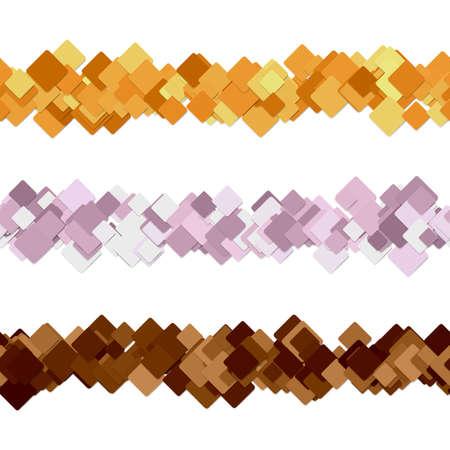 Square pattern paragraph divider line design set - decoration elements