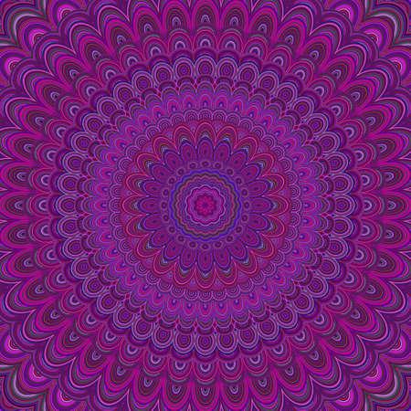 Dark purple mandala ornament background - round symmetrical vector pattern graphic design from concentric ellipses Reklamní fotografie - 83995564