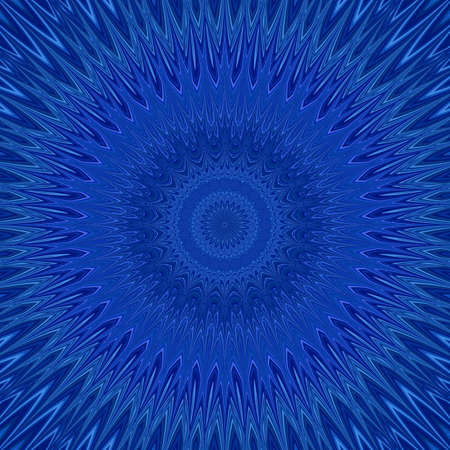 repetitive: Blue mandala explosion fractal - round symmetric pattern design from curved stars Illustration