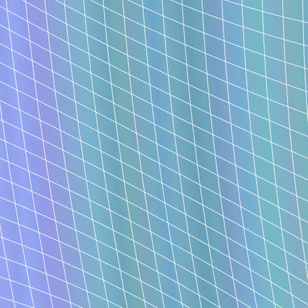 Dynamic abstract geometrical grid background - vector graphic design from curved angular stripes Illustration