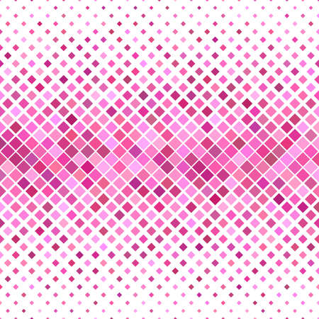 Abstract colored square pattern background - geometric vector graphic from diagonal squares in pink tones
