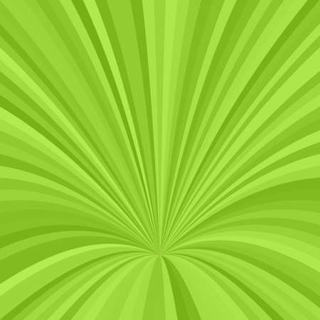 Curved ray burst background - vector graphic design from curved stripes in green tones