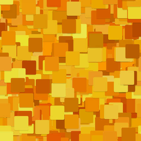Abstract seamless chaotic square pattern background - graphic from orange squares with shadow effect Illustration