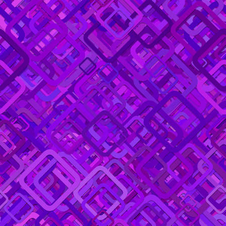 Abstract random square background pattern - graphic from diagonal purple squares Illustration