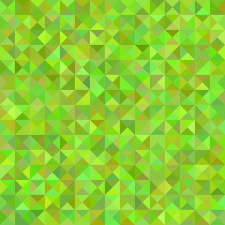 Geometric abstract triangle tiled mosaic pattern background - vector illustration from triangles in green tones