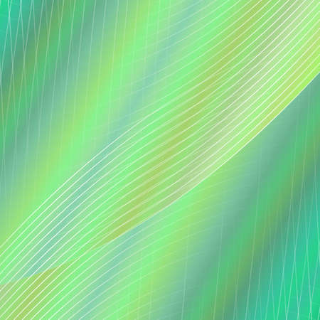 Green dynamic geometrical grid background -  design from curved angular line grid