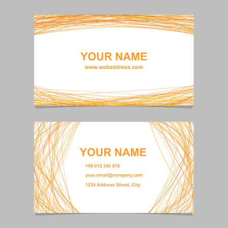 arched: Business card template. Illustration