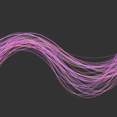 Geometrical wave stripe background -  graphic from pink colored curved wavy lines