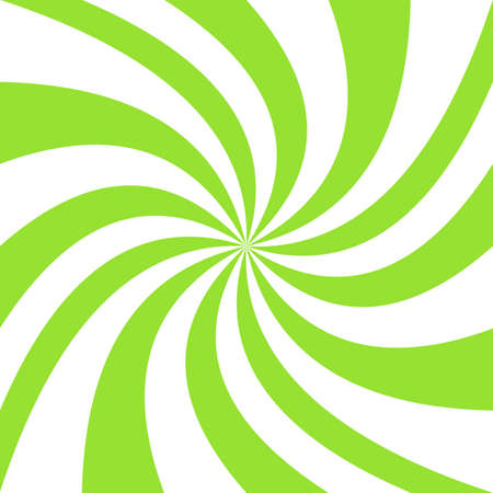 Geometric swirl background - vector spiral graphic design from green and white twisting rays