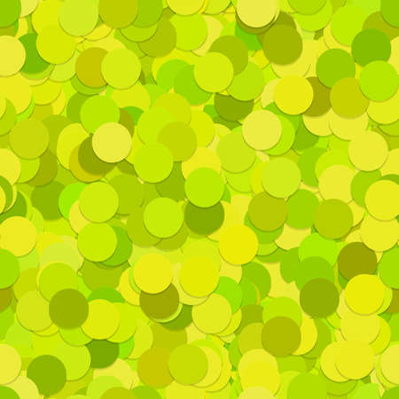 Seamless random dot background pattern - vector graphic from circles in lime green tones with shadow effect