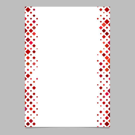 abstract brochure border template from red diagonal square pattern