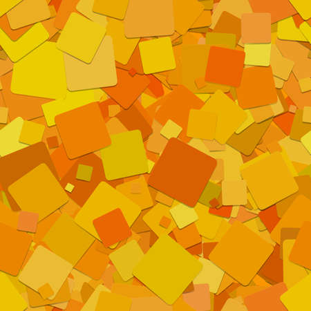 Seamless abstract geometrical square pattern background - vector graphic design from rotated orange squares 向量圖像