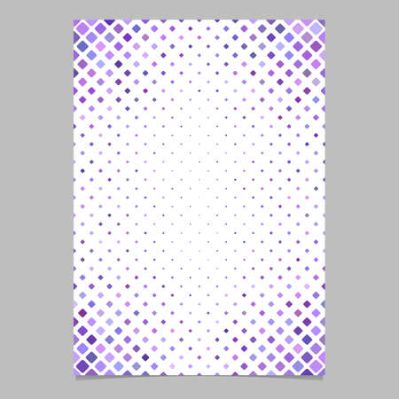 Color diagonal square pattern brochure background template - vector graphic design from squares in purple tones for presentations Illustration
