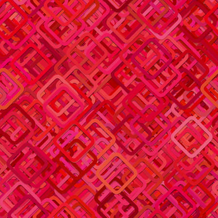 Repeating abstract square background pattern - vector graphic design from diagonal squares in red tones with shadow effect
