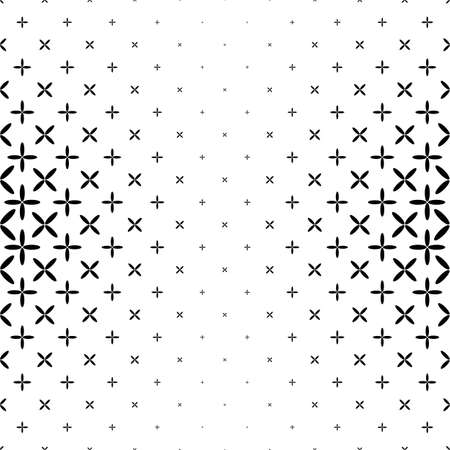Black and white star pattern - abstract  design