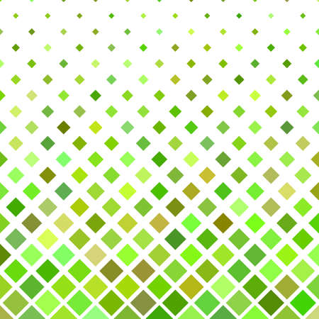 Colored abstract square pattern - geometric illustration from diagnal squares in green tones Illustration