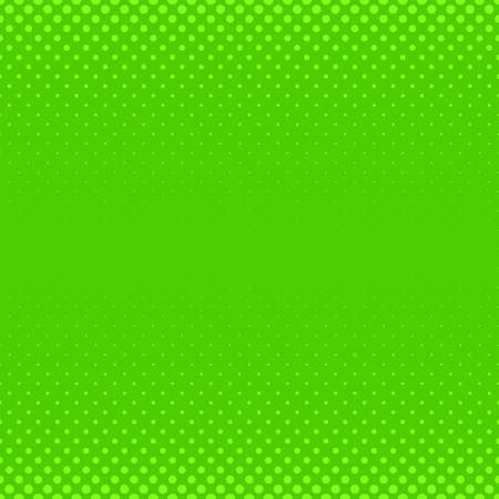 Green geometric halftone dot pattern background - vector graphic with circles in varying sizes