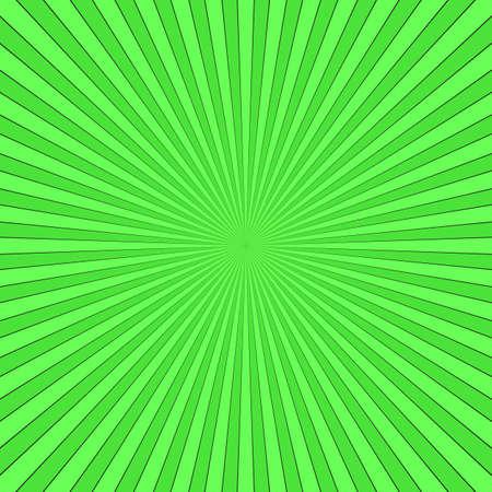 Green abstract ray burst.