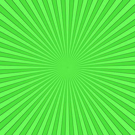Green abstract ray burst.
