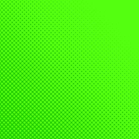 Green color halftone halftone dot pattern background - vector graphic design from circles in varying sizes Çizim