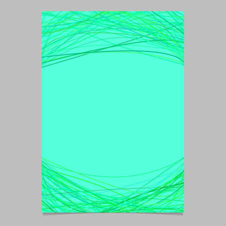 Blank brochure template with chaotic arched lines - blank vector page graphic