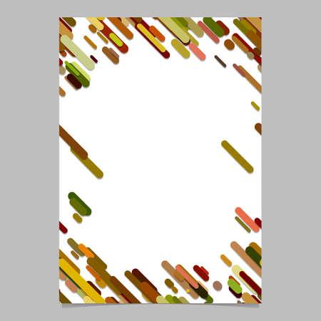 color random diagonal rounded stripe pattern brochure template