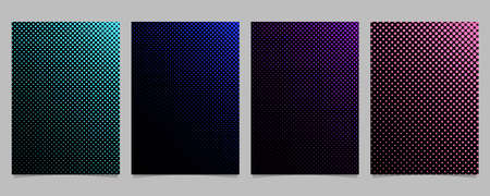 Simple halftone dot pattern cover template set - vector poster background graphic designs with colored circles Illustration