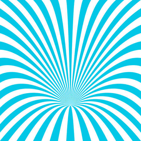 Abstract hole background - vector graphic design from cyan and white curved ray stripes
