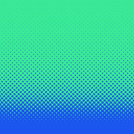 Retro abstract halftone ellipse pattern background - vector design with blue diagonal elliptical dots on green background Illustration